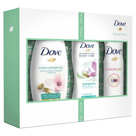 Dove Delicate Beauty vianočná darčeková kazeta pre ženy