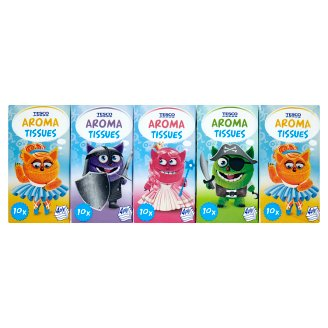 Tesco Pocket Aroma Tissues Kids 4-Ply 10 x 10 pcs