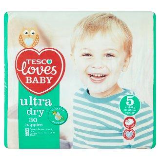 Tesco Loves Baby Ultra dry plienky 5 junior 30 ks