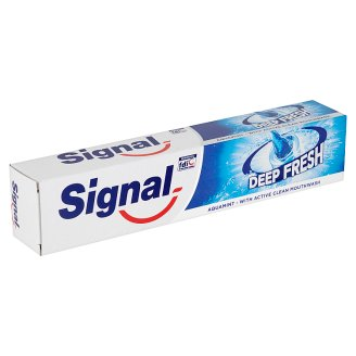 Signal Deep Fresh Aqua Mint Toothpaste with Active Clean Mouthwash 75 ml