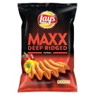 Lay's Maxx Fried Potato Chips Flavoured with Spicy Peppers 140 g