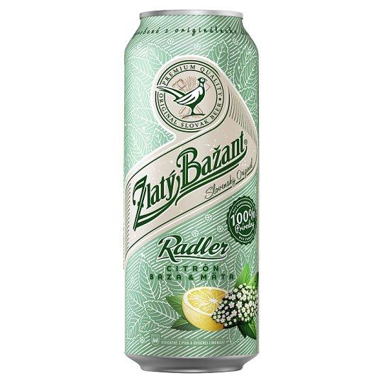 Zlatý Bažant Radler Elder Lemon Mint Mixed Alcoholic Drink 500 ml