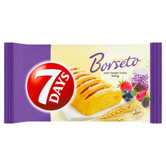 7 Days Borseto Pastry from Leavened Puff Pastry with a Filling Forest Fruit 60 g