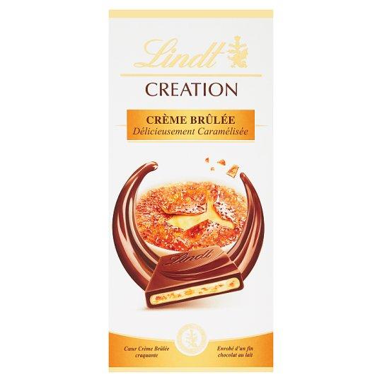 Lindt Creation Filled Milk Chocolate with Taste of Crème Brûlée and Pieces of Caramel Crisps 150 g