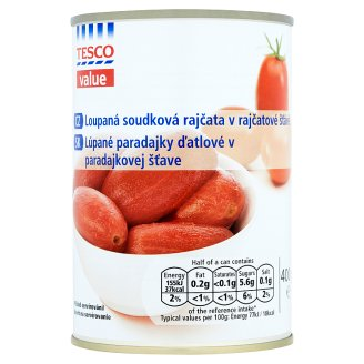 Tesco Value Woodpeckers Peeled Tomatoes in Tomato Sauce 400 g