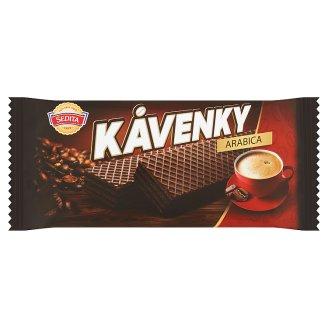 Sedita Kávenky Arabica kakaové oblátky s kávovou krémovou náplňou 50 g