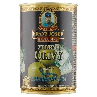 Kaiser Franz Josef Exclusive Zelené olivy plnené pastou z modrého syra v slanom náleve 300 g