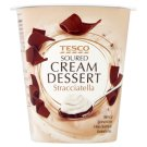 Tesco Soured Cream Dessert Stracciatella 130 g