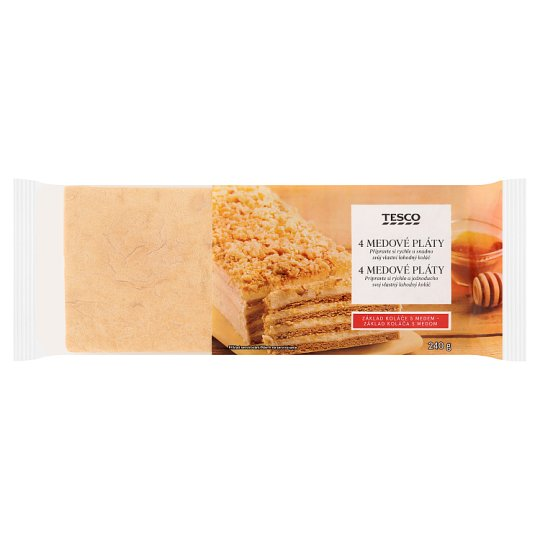 Tesco Honey Plates 4 pcs 240 g