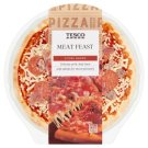 Tesco Meat Feast Pizza with Cheese, Ham, Roasted Pork and Beef and Salami 394 g