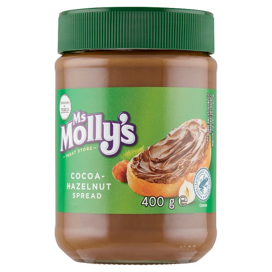 Ms Molly's Kakaovo-lieskovooriešková nátierka 400 g