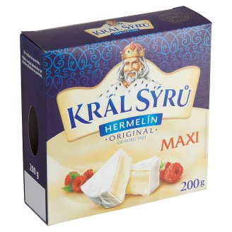 Král Sýrů Hermelín originál maxi 200 g