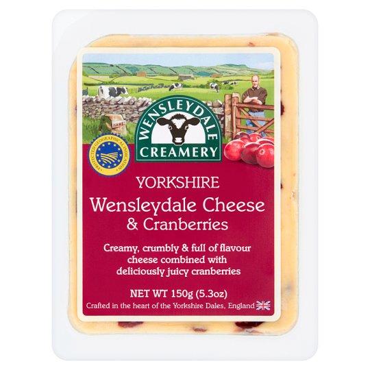 Wensleydale Creamery Yorkshire Wensleydale Cheese & Cranberries 150 g