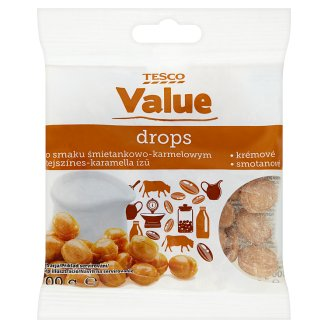 Tesco Value Drops smotanové 100 g