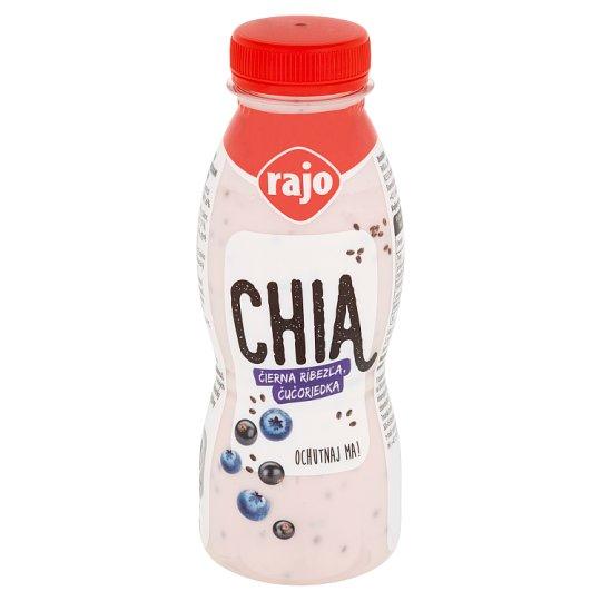 Rajo Chia jogurtový nápoj čierna ríbezľa, čučoriedka 330 g