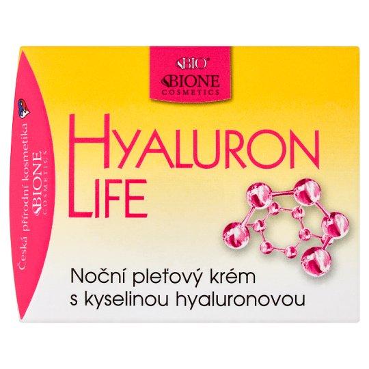 Bione Cosmetics Bio Hyaluron Life nočný pleťový krém s kyselinou hyalurónovou 51 ml