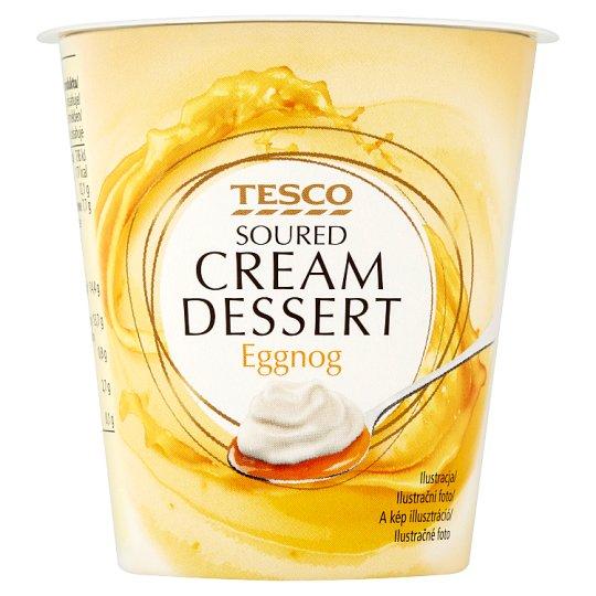 Tesco Soured Cream Dessert Eggnog 130 g