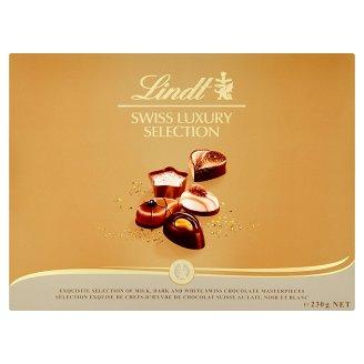 Lindt Swiss Luxury Selection kolekcia plnených čokoládových bonbónov 23 ks 230 g