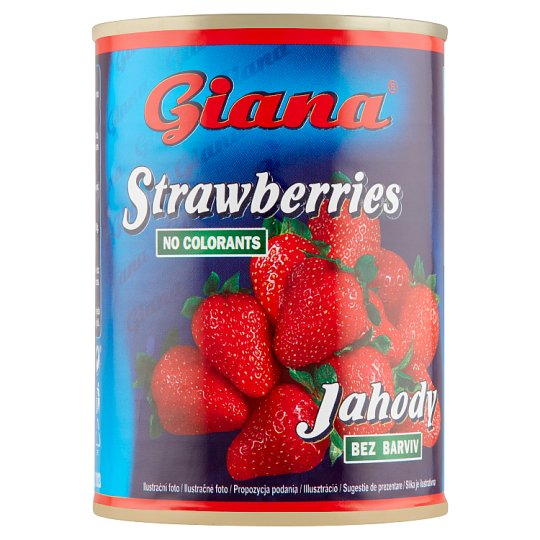 Giana Jahodový kompót v sladkom náleve 410 g