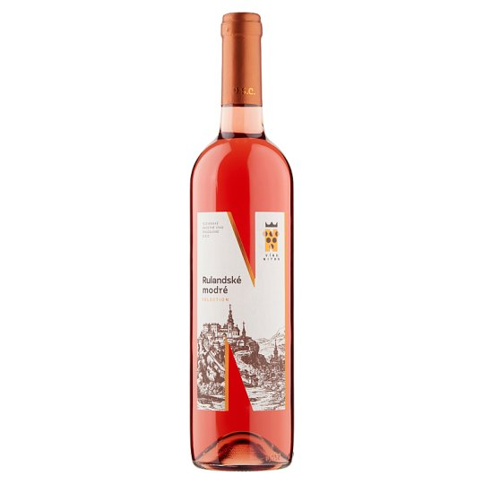 Víno Nitra Selection Rulandské modré slovenské akostné víno ružové polosuché D.S.C. 0,75 l