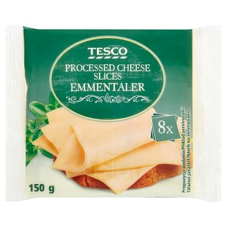 Tesco Processed Cheese Slices Emmentaler 8 x 18.75 g