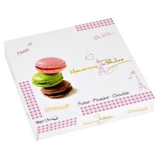 Macarons de Pauline Makarónky s mandľami, jahodovým koncentrátom, pistáciami a čokoládou 108 g