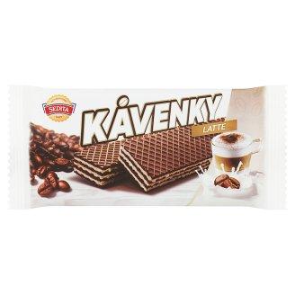 Sedita Kávenky Latte kakaové oblátky s mliečnou krémovou náplňou s kávovou príchuťou 50 g