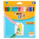 Bic Tropicolors 2 Kids farebné ceruzky 24 ks