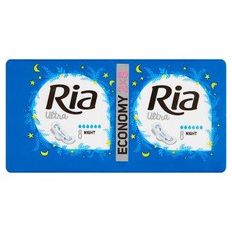 Ria Ultra Silk Night Sanitary Towels 2 x 8 pcs