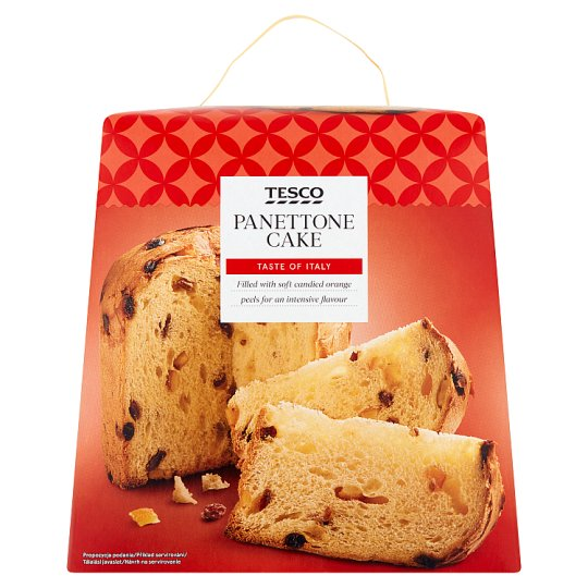 Tesco Panettone Cake Filled with Soft Candied Orange Peels for an Intensive Flavour 900 g