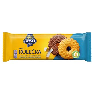 Opavia Zlaté Biscuits with Grated Coconut Half-Dipped in Milk Chocolate 146 g