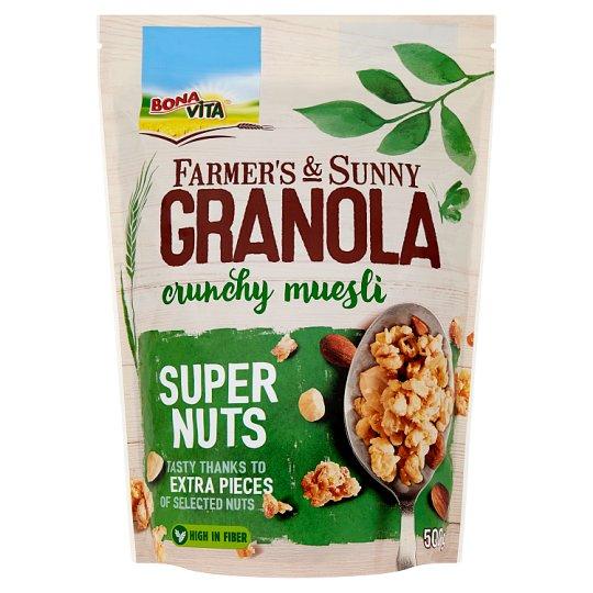 Bona Vita Farmer's & Sunny Granola Super Nuts müsli 500 g