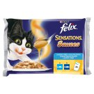 FELIX Sensations Sauces Cod in Sauce with Tomatoes, Sardines in Sauce with Carrot 4 x 100 g