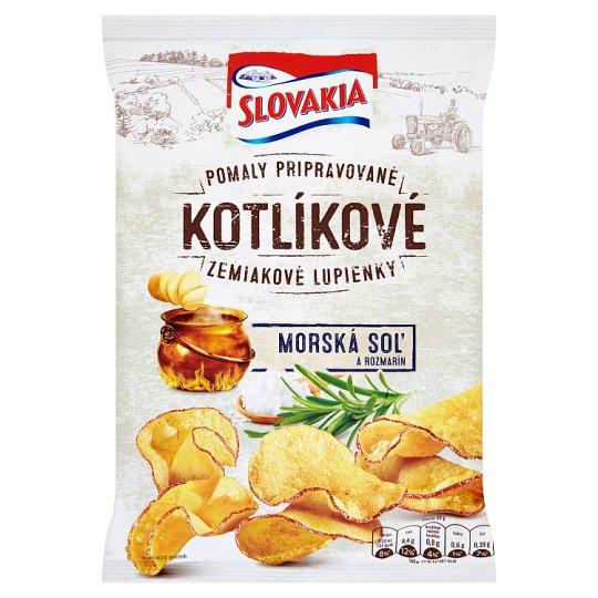 Slovakia Kotlíkové Zemiakové lupienky morská soľ a rozmarín 120 g
