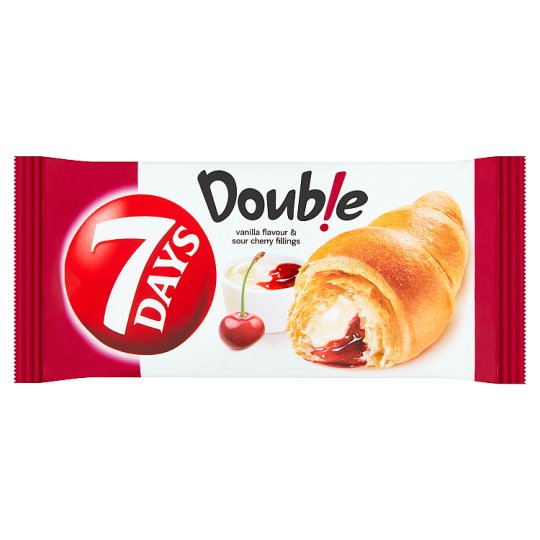 7 Days Double Croissant with Vanilla a Cherry Filling 60 g