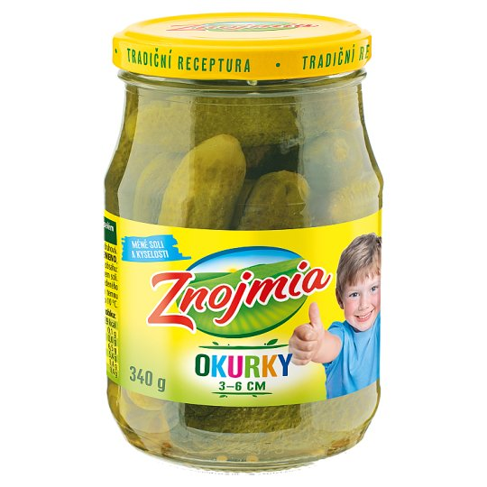 Znojmia Baby Cucumbers Sterilized 30-60 mm 340 g