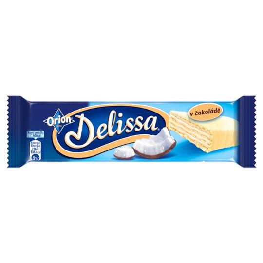 ORION Delissa oblátka s kokosovou náplňou máčaná v bielej čokoláde 33 g