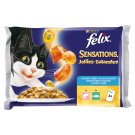 FELIX Sensations Jellies with Salmon-Flavoured Shrimps + Dark Cod with Tomatoes 4 x 100 g