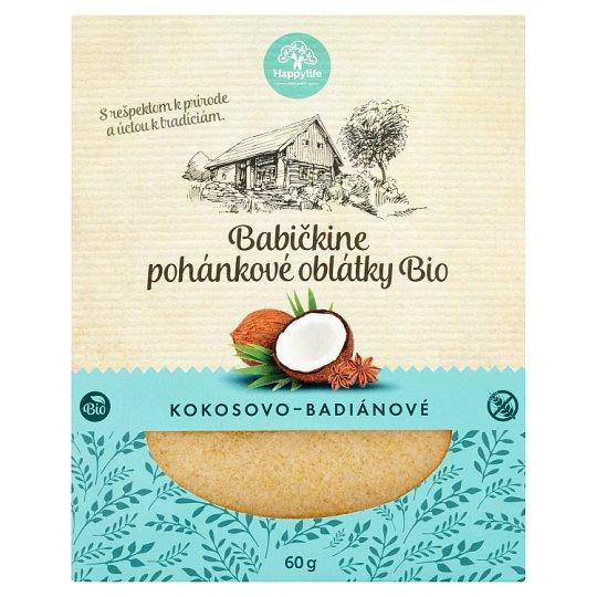 Happylife Grandma's Organic Buckwheat Coconut-Badian Wafers 60 g