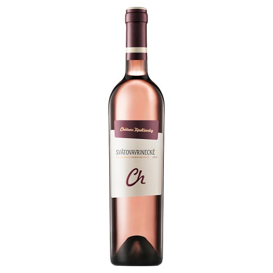 Château Topoľčianky Svätovavrinecké slovenské akostné odrodové víno CH.O.P. ružové polosuché 0,75 l