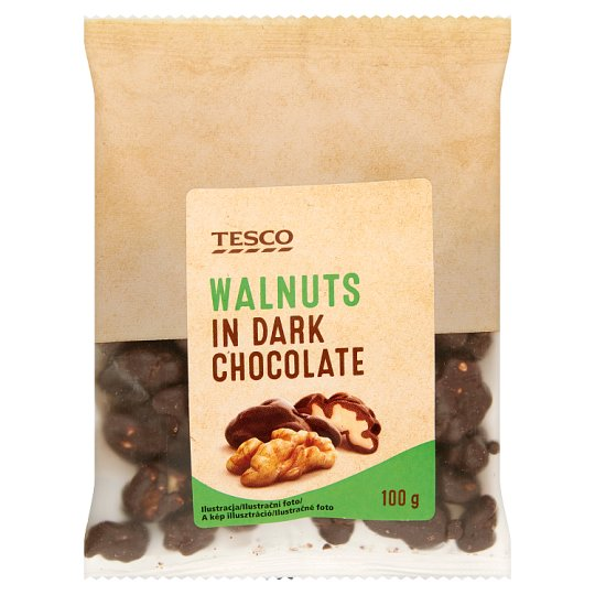 Tesco Walnuts in Dark Chocolate 100 g