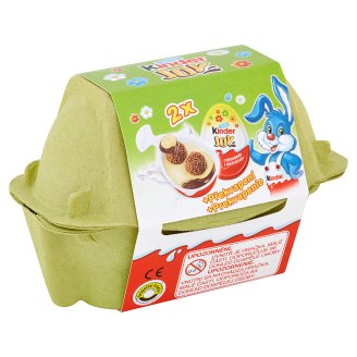 Kinder Joy Wafer Balls Sprinkled with Cocoa in Milk and Milk-Cream - with a Surprise 2 x 20 g