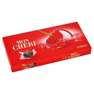 Mon Chéri Čokoládové bonbóny plnené celou čerešňou v likéri 157,5 g