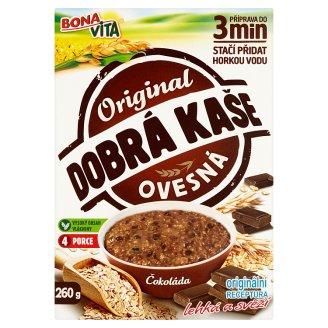 Bona Vita Dobrá kaše Original ovsená kaša čokoláda 4 x 65 g