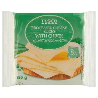Tesco Tavený plátkový syr s pažítkou 8 x 18,75 g