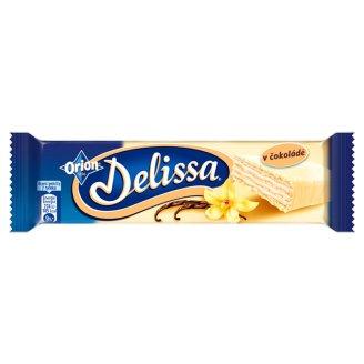 ORION Delissa oblátka s náplňou s vanilkovou príchuťou máčaná v bielej čokoláde 33 g