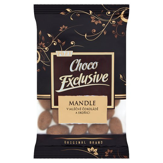 Poex Choco Exclusive Roasted Kernels of Almonds in Milk Chocolate and Cinnamon 150 g