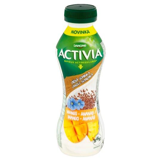 Danone Activia Mango - Ananas with Linseed Yoghurt Drink 310 g