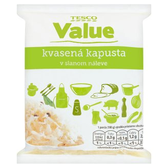 Tesco Value Sauerkraut in Brine 1 kg