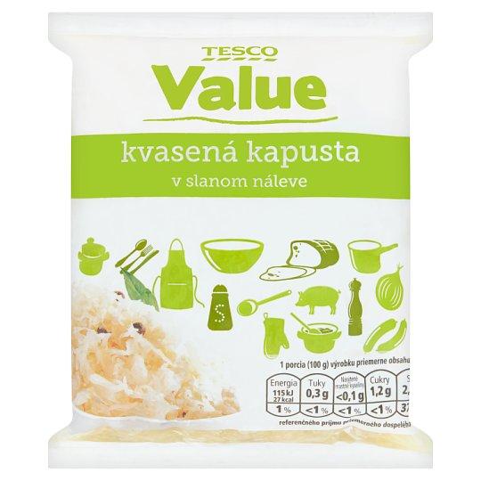Tesco Value Sauerkraut in Brine 1 kg